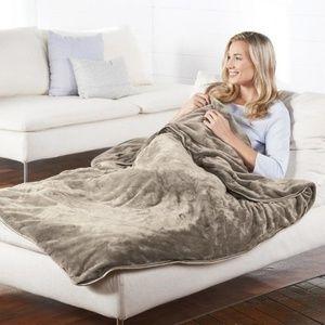 Brookstone NAP 12lb Softest Weighted Blanket NIB!